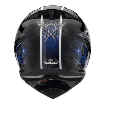 Мотошлем AGV STEALTH CRUEL BLACK/BLUE  Артмото - купить квадроцикл в украине и харькове, мотоцикл, снегоход, скутер, мопед, электромобиль