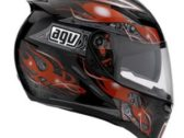 Мотошлем AGV STEALTH CRUEL BLACK/RED