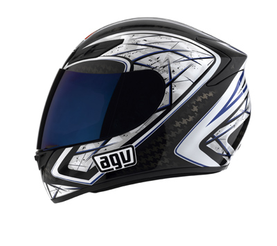 Мотошлем AGV K-4 SLIVER BLACK/BLUE  Артмото - купить квадроцикл в украине и харькове, мотоцикл, снегоход, скутер, мопед, электромобиль