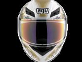 Мотошлем AGV K-3 FLEURS WHITE/GOLD