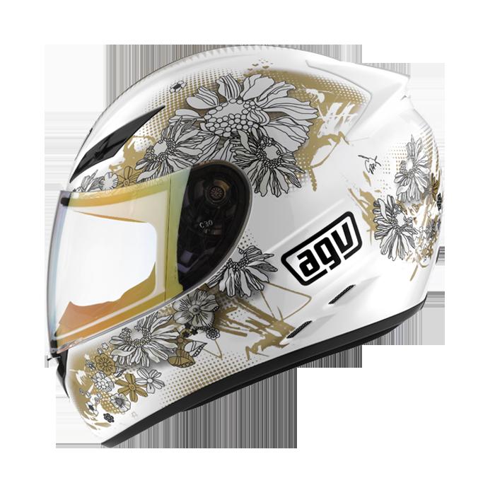 Мотошлем AGV K-3 FLEURS WHITE/GOLD  Артмото - купить квадроцикл в украине и харькове, мотоцикл, снегоход, скутер, мопед, электромобиль