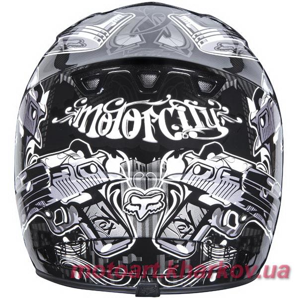 Мотошлем Fox V2 Motor City Helmet 2011 (шлем для мотокросса)  Артмото - купить квадроцикл в украине и харькове, мотоцикл, снегоход, скутер, мопед, электромобиль