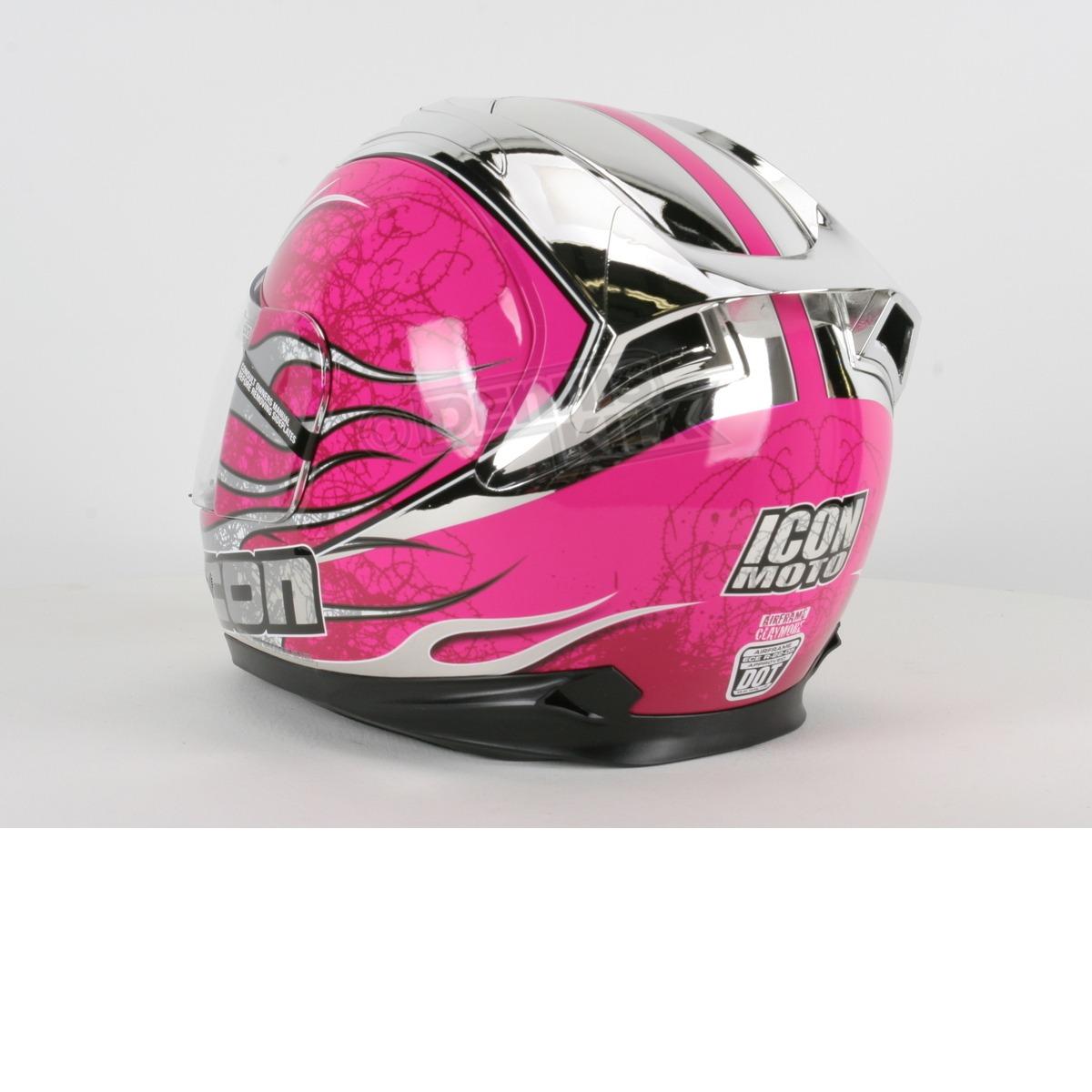 Мотошлем ICON Airframe Claymore Pink Chrome  Артмото - купить квадроцикл в украине и харькове, мотоцикл, снегоход, скутер, мопед, электромобиль