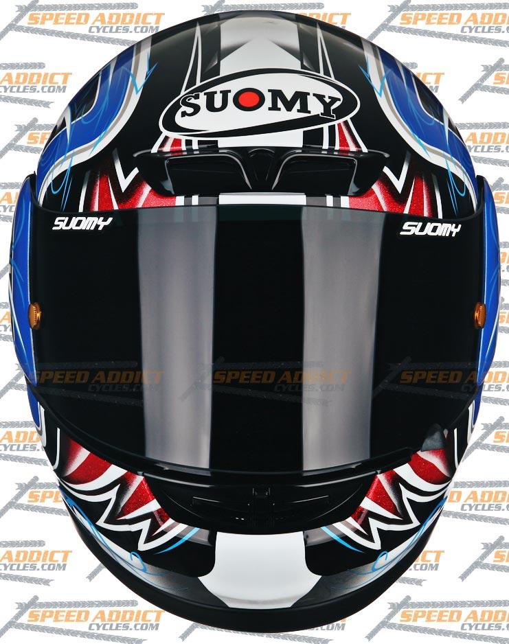 Мотошлем SUOMY Apex Tornado Blue Red  Артмото - купить квадроцикл в украине и харькове, мотоцикл, снегоход, скутер, мопед, электромобиль