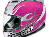 Мотошлем ICON Airframe Claymore Pink Chrome