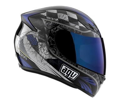 Мотошлем AGV K-4 TORQUE BLACK/BLUE  Артмото - купить квадроцикл в украине и харькове, мотоцикл, снегоход, скутер, мопед, электромобиль