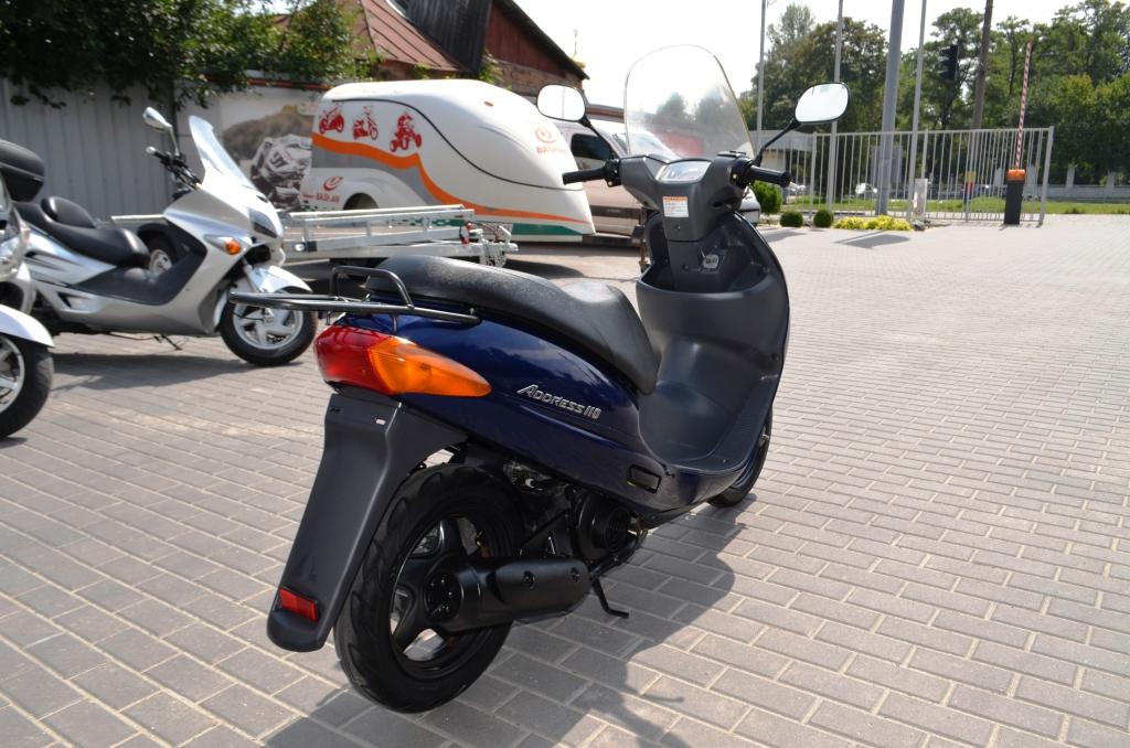 СКУТЕР SUZUKI ADDRESS 110 СИНИЙ ― Артмото - купить квадроцикл в украине и харькове, мотоцикл, снегоход, скутер, мопед, электромобиль