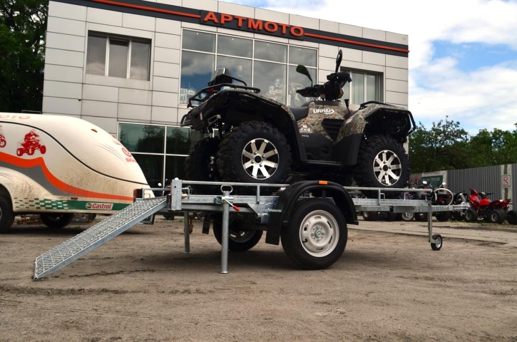 НОВЫЙ ПРИЦЕП (ЛАФЕТ) ДЛЯ ПЕРЕВОЗКИ КВАДРОЦИКЛА  Артмото - купить квадроцикл в украине и харькове, мотоцикл, снегоход, скутер, мопед, электромобиль