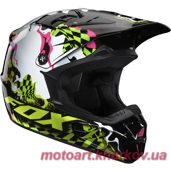 МОТОШЛЕМ FOX V1 CHECKED OUT HELMET 2011 ACID  Артмото - купить квадроцикл в украине и харькове, мотоцикл, снегоход, скутер, мопед, электромобиль