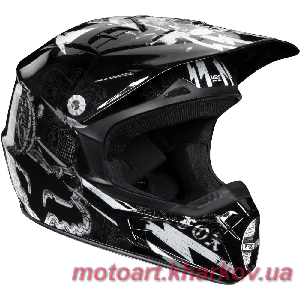 Мотошлем Fox V2 Empire II Helmet (шлем для мотокросса)  Артмото - купить квадроцикл в украине и харькове, мотоцикл, снегоход, скутер, мопед, электромобиль