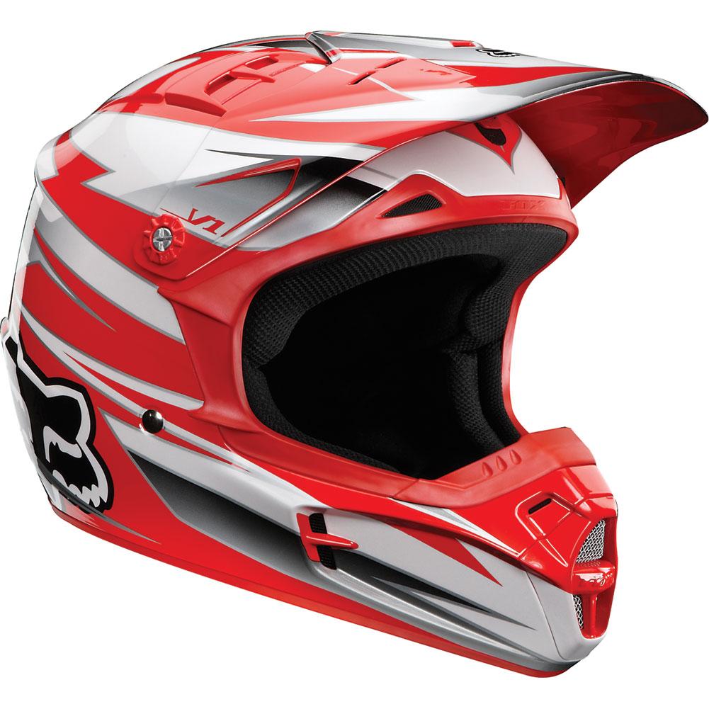 МОТОШЛЕМ 2012 FOX V1 RACE HELMET RED  Артмото - купить квадроцикл в украине и харькове, мотоцикл, снегоход, скутер, мопед, электромобиль