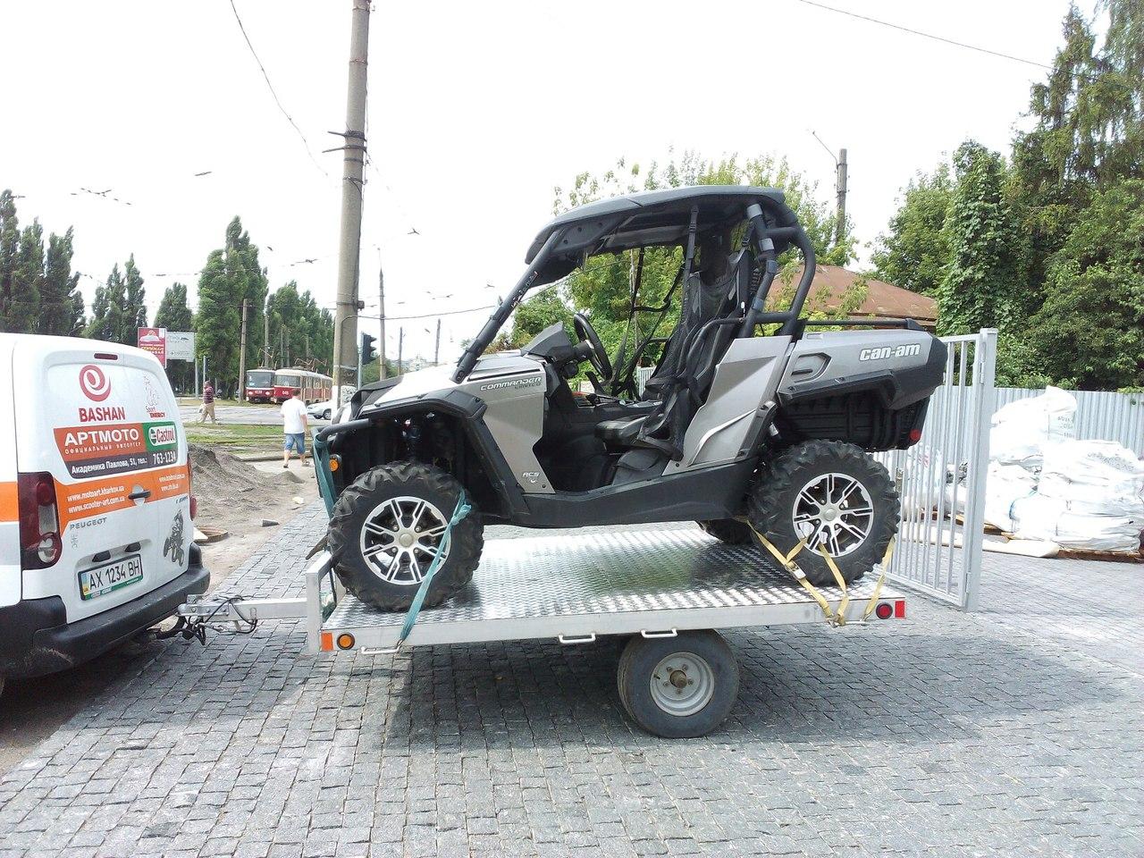 ПРИЦЕП ДЛЯ ПЕРЕВОЗКИ КВАДРОЦИКЛА FOREST RIVER  Артмото - купить квадроцикл в украине и харькове, мотоцикл, снегоход, скутер, мопед, электромобиль