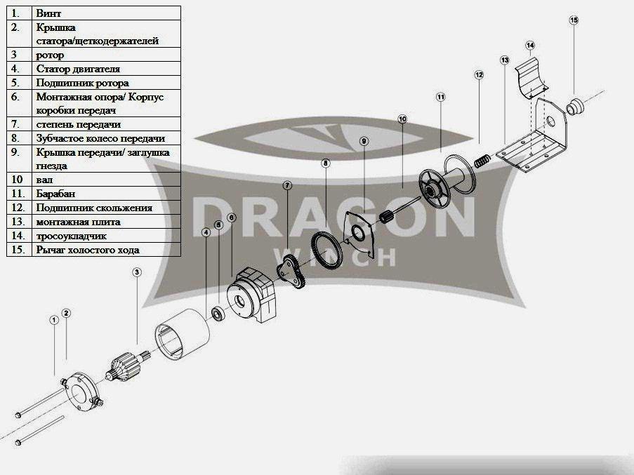 Лебедка Dragon Winch DWM 2500 ST ― Артмото - купить квадроцикл в украине и харькове, мотоцикл, снегоход, скутер, мопед, электромобиль