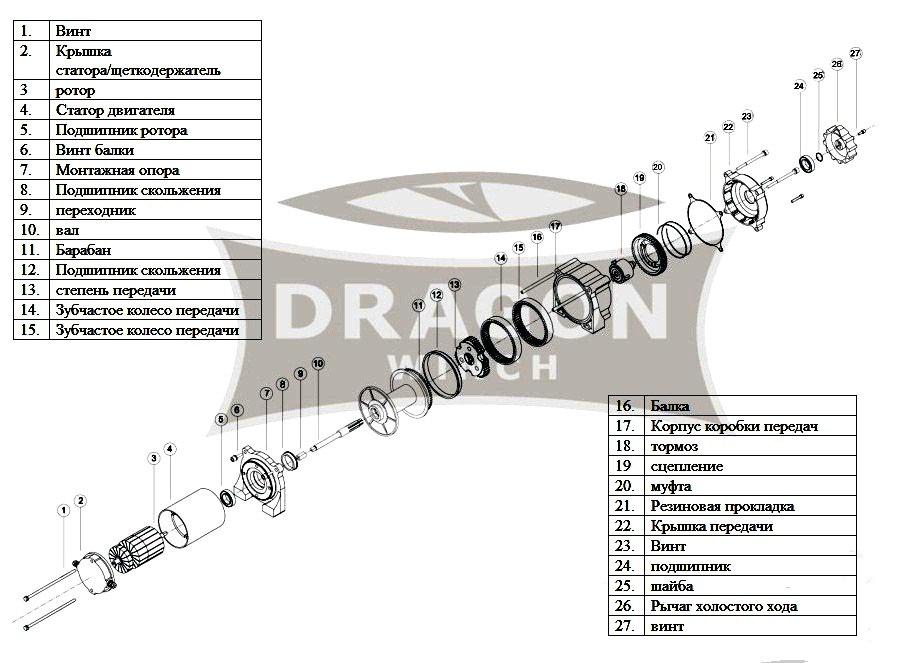 Лебедка Dragon Winch DWM 3000 HD ― Артмото - купить квадроцикл в украине и харькове, мотоцикл, снегоход, скутер, мопед, электромобиль