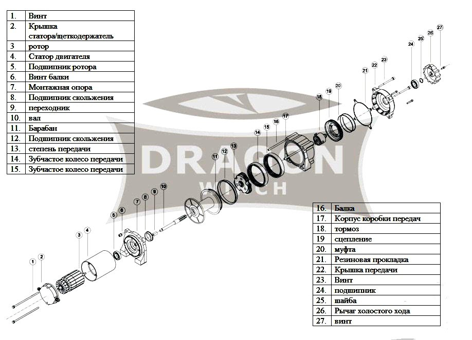 Лебедка Dragon Winch DWM 3500 HD ― Артмото - купить квадроцикл в украине и харькове, мотоцикл, снегоход, скутер, мопед, электромобиль
