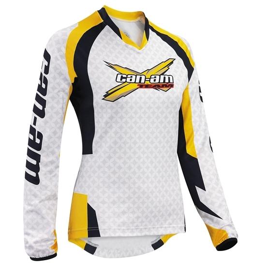 Джерси Can-Am Team Ladies' Jersey white  Артмото - купить квадроцикл в украине и харькове, мотоцикл, снегоход, скутер, мопед, электромобиль
