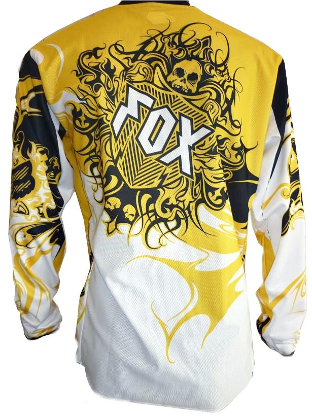 Джерси Fox encore white yellow  Артмото - купить квадроцикл в украине и харькове, мотоцикл, снегоход, скутер, мопед, электромобиль