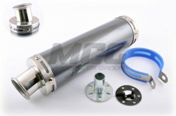 Глушитель (тюнинг) 300*90mm, креп. 48mm (нержавейка, карбон mod:1, прямоток, тип:1)