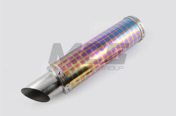 Глушитель (тюнинг) 340*100mm, креп. 78mm (нержавейка, квадраты, без креплений, mod:41)