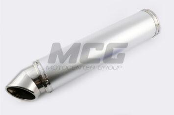 Глушитель (тюнинг) 420*100mm, креп. 78mm (нержавейка, серебро, без креплений, mod:54)