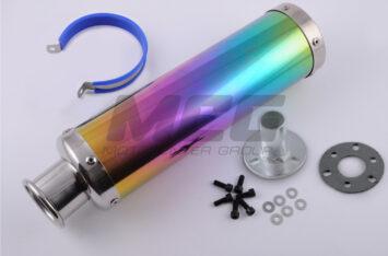 Глушитель (тюнинг) 300*90mm, креп. 48mm (нержавейка, радуга, прямоток, mod:8)