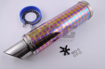 Глушитель (тюнинг) 350*100mm, креп. 48mm (нержавейка, квадраты, mod:22)