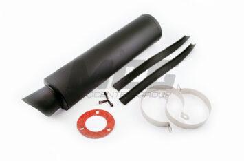"""Глушитель (тюнинг) 420*110mm, креп. 78mm (""""гравитекс"""", черный, прямоток, mod:6)"""
