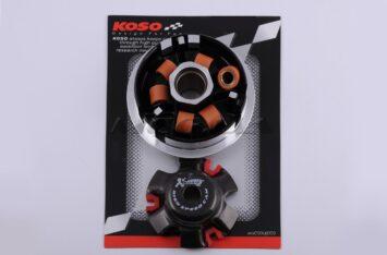 """Вариатор передний (тюнинг) 4T GY6 150 (медно-граф. втулка, ролики латунь) """"KOSO"""""""
