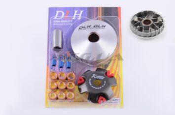 """Вариатор передний (тюнинг) 4T GY6 50 (ролики латунь 9шт, палец, пружины сцепления) """"DLH"""""""