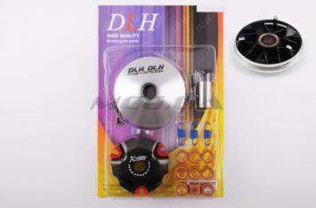 """Вариатор передний (тюнинг) 4T GY6 50 light (ролики латунь 9шт, палец, пружины сцепления) """"DLH"""""""