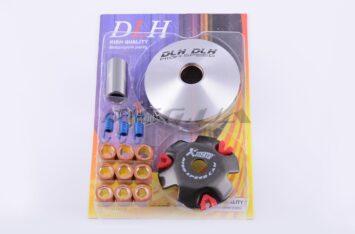 """Вариатор передний (тюнинг) Honda DIO AF18 (ролики латунь 9шт, палец, пр. сцепления) """"DLH"""""""