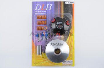 """Вариатор передний (тюнинг) Suzuki AD110 (ролики латунь 9шт, палец, пружины сцепления) """"DLH"""""""