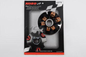 """Вариатор передний (тюнинг) Suzuki LET'S (медно-граф. втулка, ролики латунь) """"KOSO"""""""