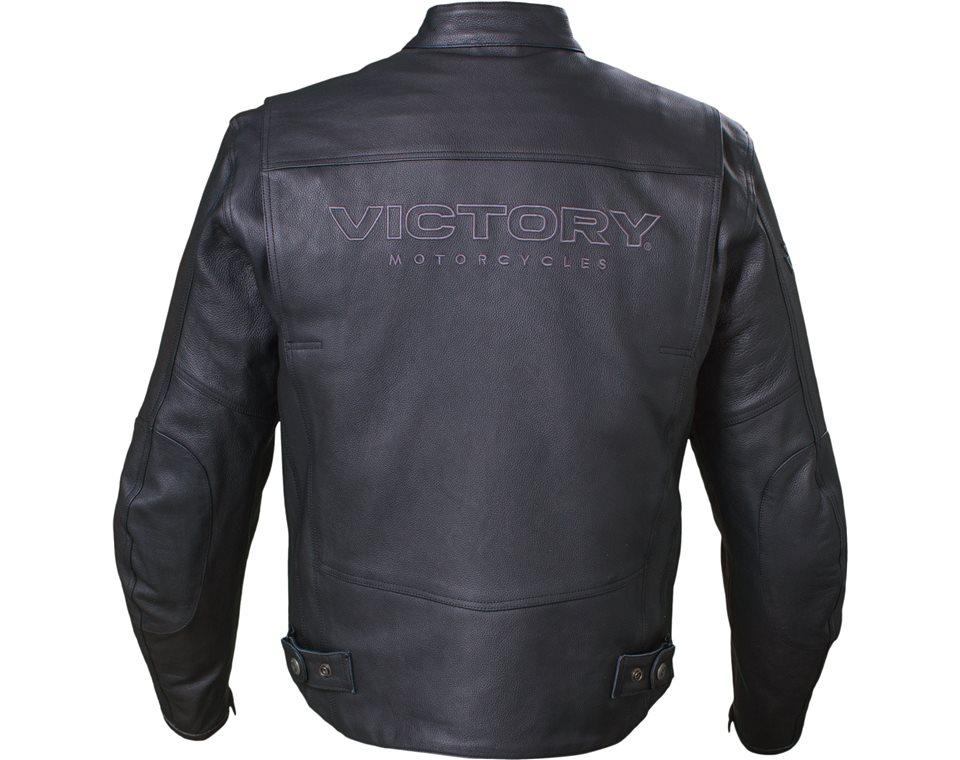 Kingston Jacket — Black Leather by Victory Motorcycles®  Артмото - купить квадроцикл в украине и харькове, мотоцикл, снегоход, скутер, мопед, электромобиль