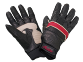 Retro Glove — Black/Red Leather by Indian Motorcycle