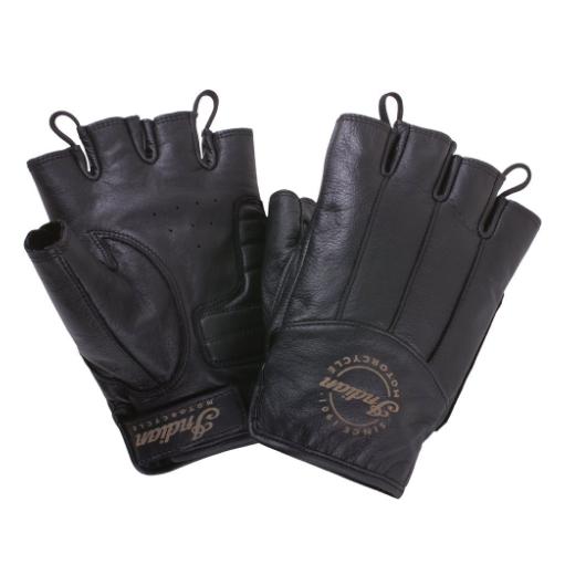 Fingerless Gloves — Black leather by Indian Motorcycle  Артмото - купить квадроцикл в украине и харькове, мотоцикл, снегоход, скутер, мопед, электромобиль