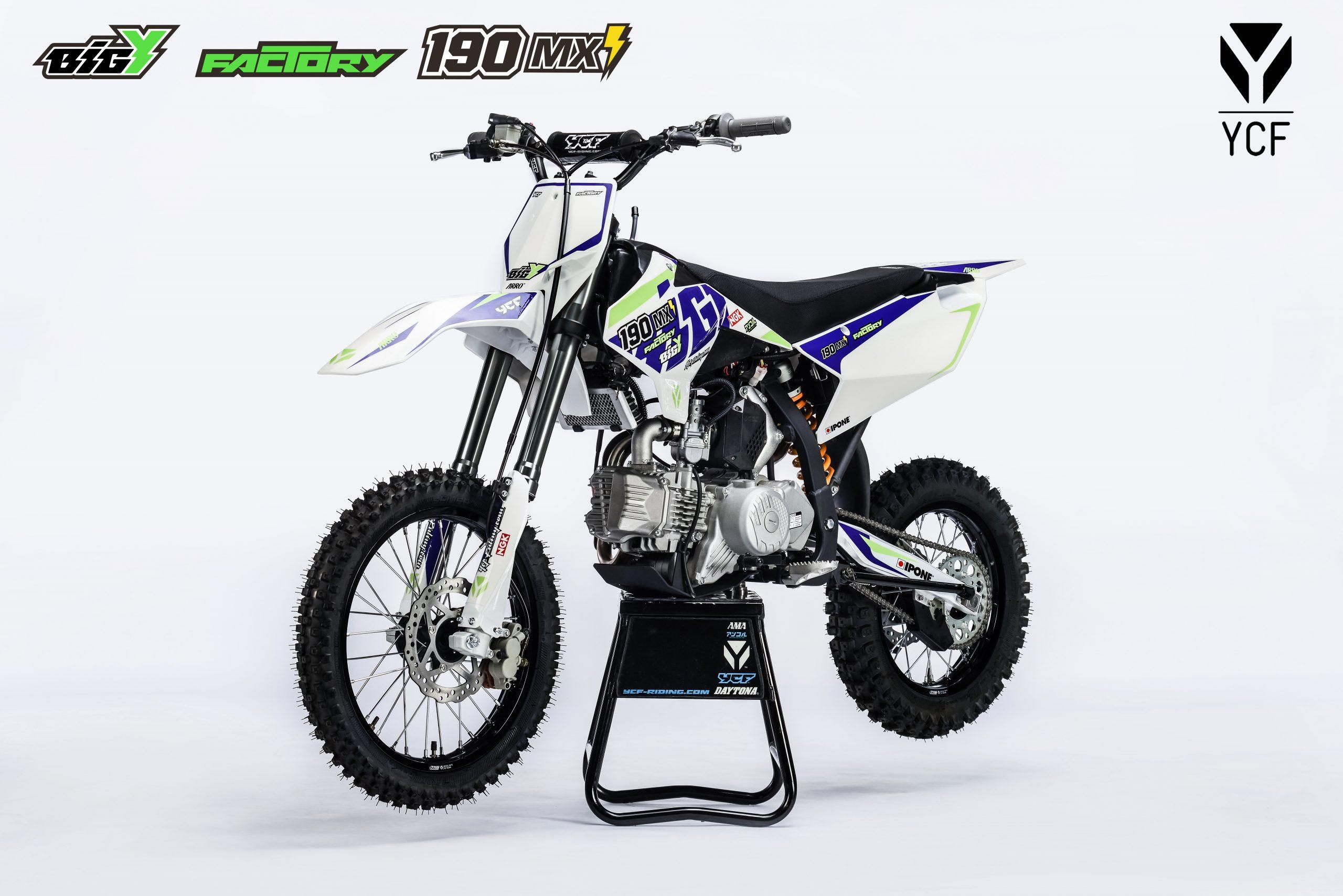 ПИТБАЙК YCF BIGY FACTORY 190 ZE MX 2021  Артмото - купить квадроцикл в украине и харькове, мотоцикл, снегоход, скутер, мопед, электромобиль