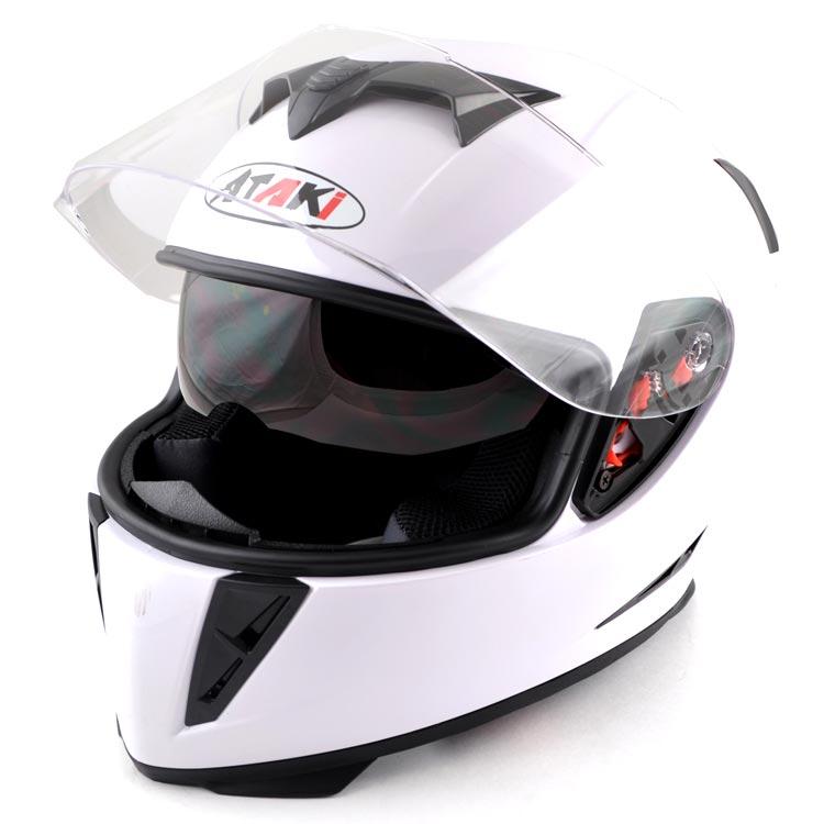 МОТОШЛЕМ ATAKI FF311 White  Артмото - купить квадроцикл в украине и харькове, мотоцикл, снегоход, скутер, мопед, электромобиль