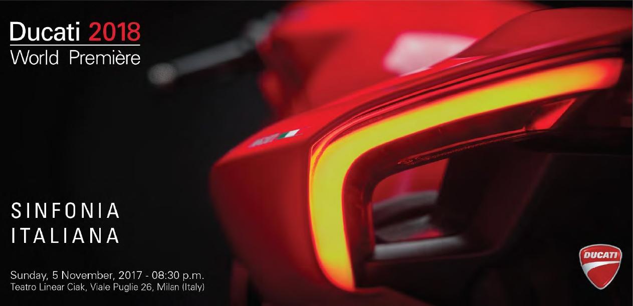 Мировая премьера моделей мотоциклов DUCATI 2018