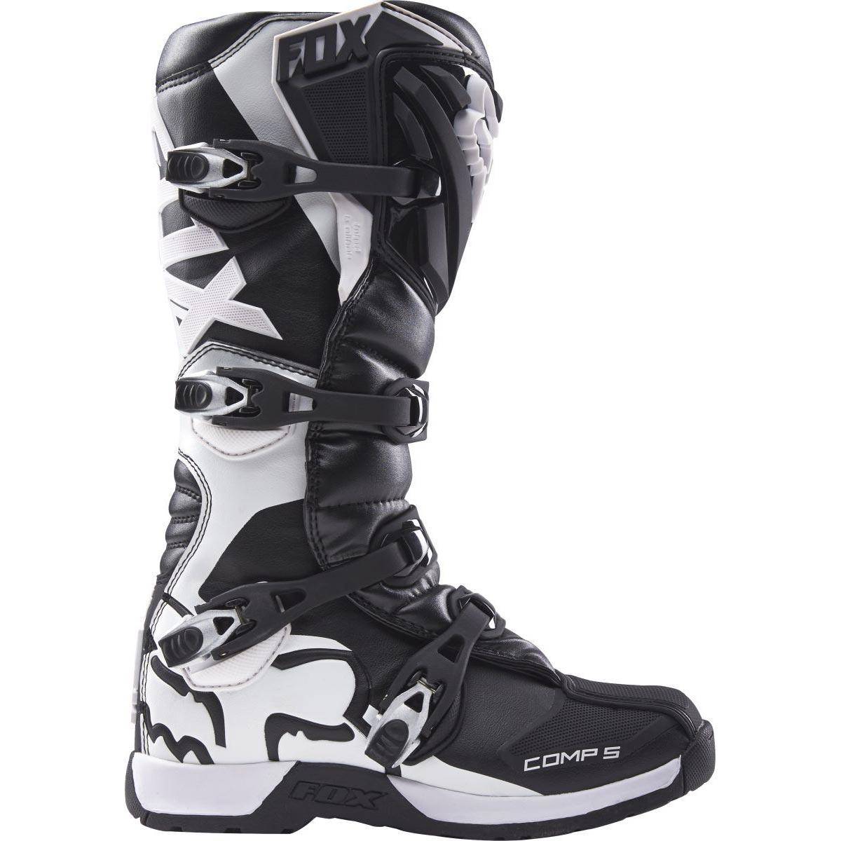 МОТОБОТЫ FOX COMP 5 BOOT BLACK ― Артмото - купить квадроцикл в украине и харькове, мотоцикл, снегоход, скутер, мопед, электромобиль