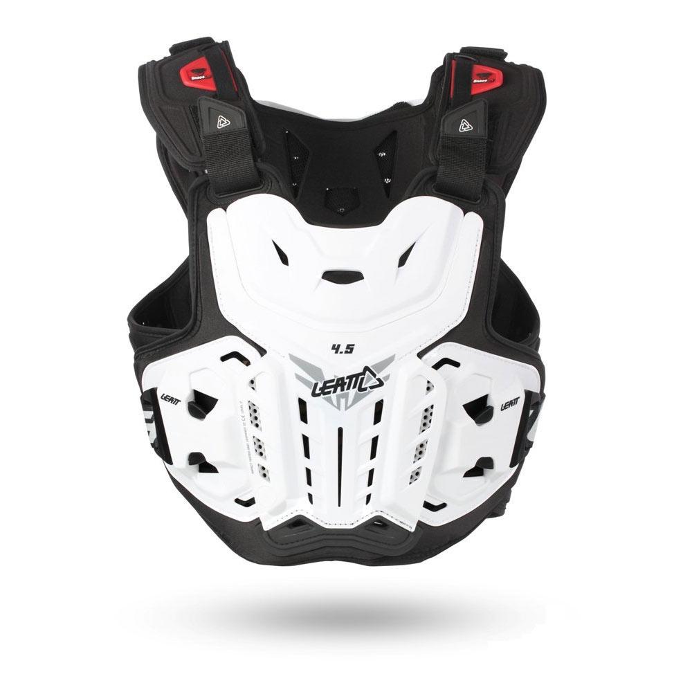 МОТОЗАЩИТА ТЕЛА CHEST PROTECTOR LEATT 4.5 WHITE ― Артмото - купить квадроцикл в украине и харькове, мотоцикл, снегоход, скутер, мопед, электромобиль