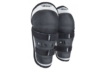 Детские наколенники FOX PeeWee Titan Knee/Shin Black/Silver