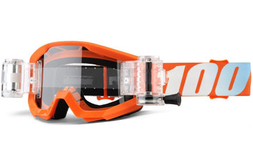 Детские мото очки 100% STRATA JR Mud Goggle Orange - Clear Lens