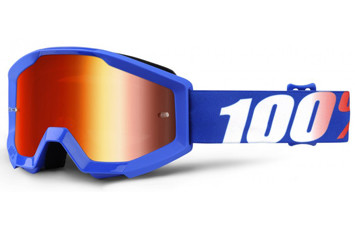 Детские мото очки 100% STRATA JR Goggle Nation - Mirror Red Lens