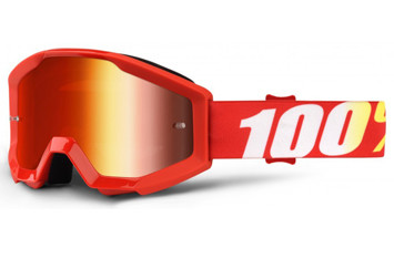 Детские мото очки 100% STRATA JR Goggle Furnace - Mirror Red Lens