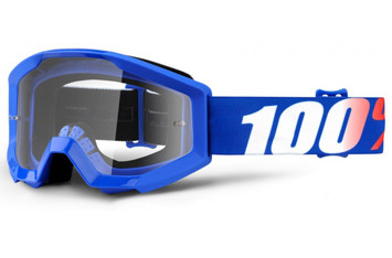 Детские мото очки 100% STRATA JR Goggle Nation - Clear Lens