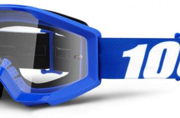 Детские мото очки 100% STRATA JR Goggle Nation - Clear Lens