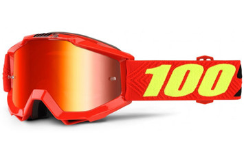 Детские мото очки 100% ACCURI Youth Goggle Saarinen - Mirror Red Lens