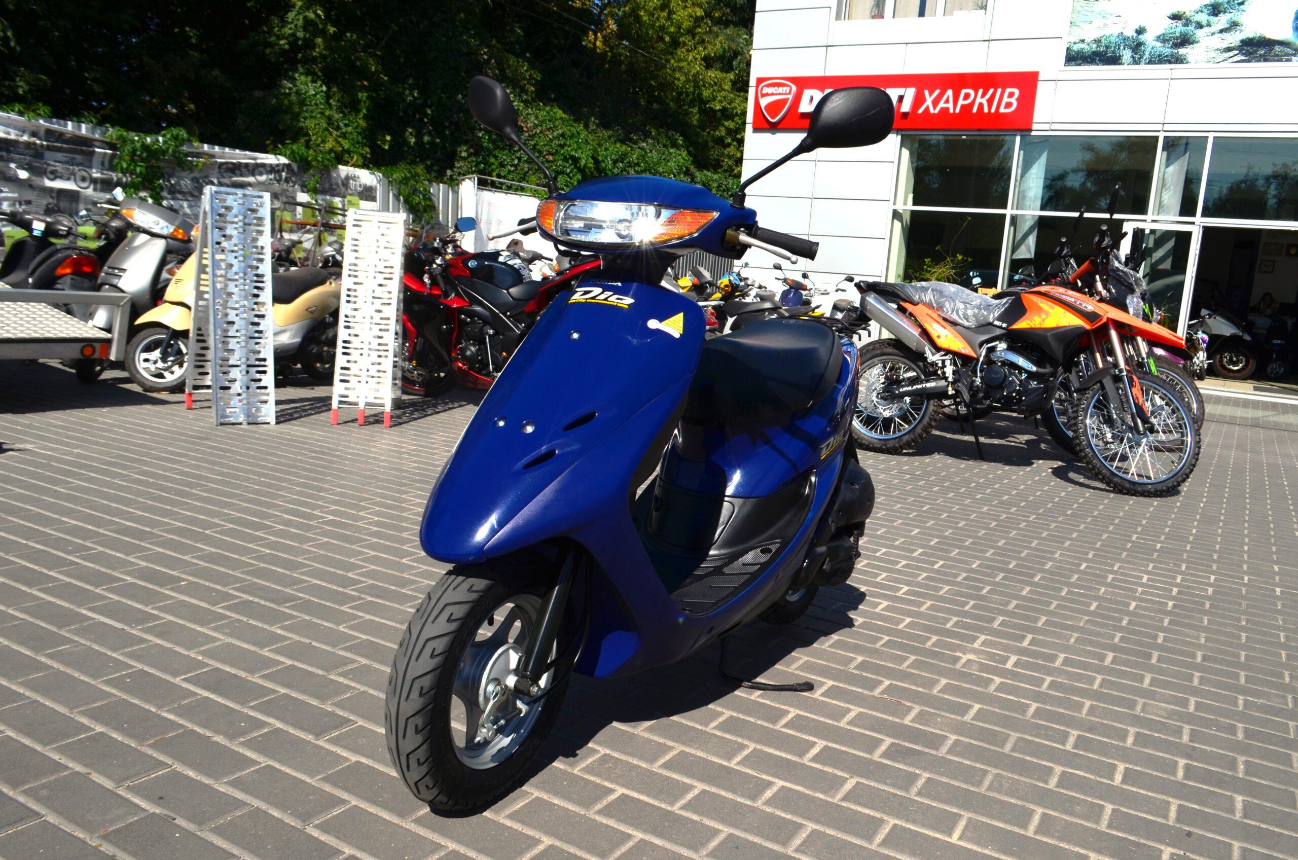 МОПЕД HONDA DIO AF34 СИНИЙ  Артмото - купить квадроцикл в украине и харькове, мотоцикл, снегоход, скутер, мопед, электромобиль
