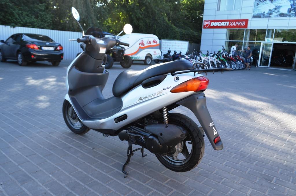 СКУТЕР SUZUKI ADDRESS 110  СЕРЕБРИСТЫЙ ― Артмото - купить квадроцикл в украине и харькове, мотоцикл, снегоход, скутер, мопед, электромобиль